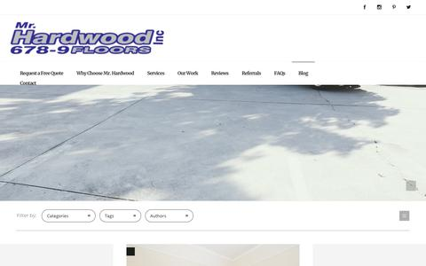 Screenshot of Blog mrhardwoodinc.com - Blog - Hardwood Flooring Installation & Refinishing - Mr Hardwood - captured Jan. 23, 2020