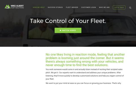 Screenshot of Services Page Support Page mikealbert.com - Click to Learn How We Help Your Business Grow. Mike Albert Fleet Solutions - We Make Fleet Easy | Mike Albert Fleet Solutions - captured Oct. 19, 2017