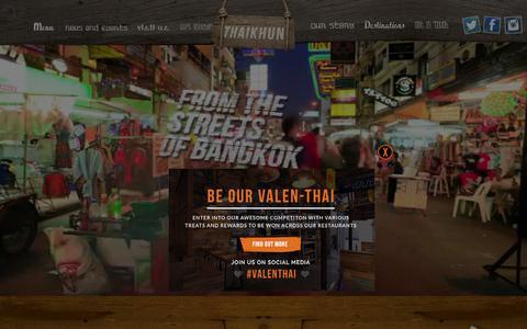 Screenshot of Home Page thaikhun.co.uk - Thaikhun - captured Feb. 6, 2016