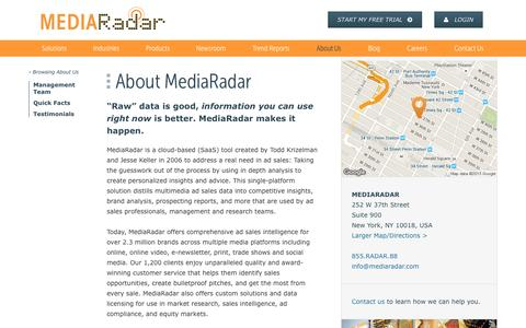 About Us | MediaRadar
