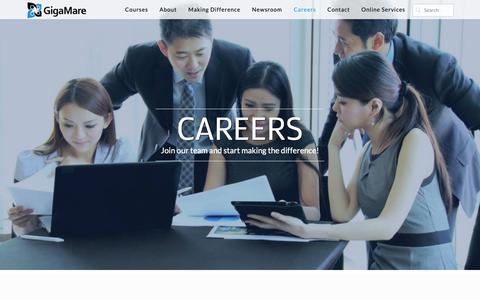 Screenshot of Jobs Page gigamare.com - GigaMare - captured Sept. 28, 2018