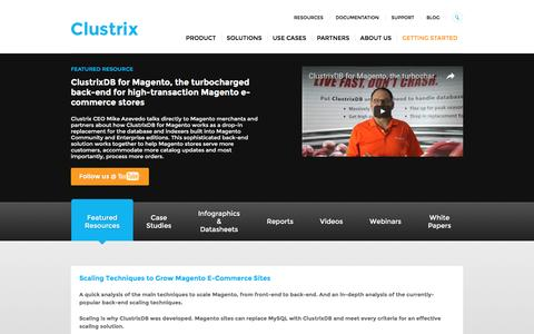 Database Resources   Data Management Resources   Clustrix
