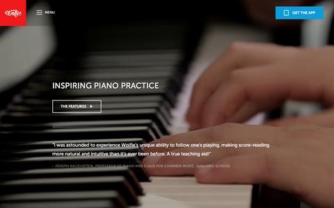 Screenshot of Maps & Directions Page tonara.com - Wolfie for piano app - Tonara and Wolfie for Piano - captured Feb. 14, 2016
