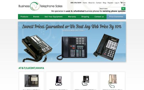 Screenshot of Home Page businesstelephone.com - Business Phones - Used and Refurbished - Business Telephone Sales - captured Sept. 22, 2014