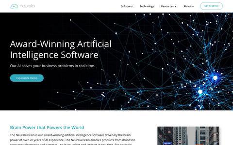 Screenshot of Home Page neurala.com - Neurala - Brains for Bots - captured May 16, 2018