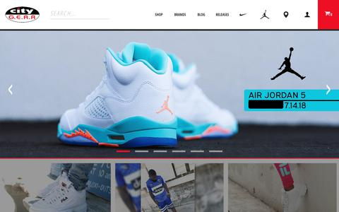 Screenshot of Home Page citygear.com - City Gear | Urban Footwear and Apparel - captured July 18, 2018