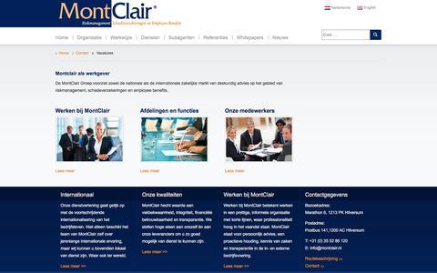 Screenshot of Jobs Page montclair.nl - Vacatures - MontClair - captured Oct. 20, 2017