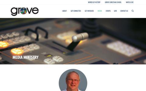 Screenshot of Press Page groveave.com - Media | Grove Avenue Baptist Church - captured Sept. 30, 2018