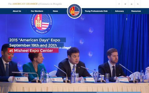 Screenshot of Home Page amcham.mn - AmCham Mongolia | American Chamber of Commerce in Mongolia - captured Feb. 5, 2016