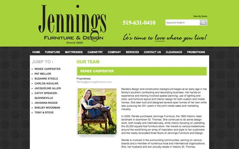 Screenshot of Team Page jenningsfurniture.com - Furniture, Mattresses, Cabinetry in London, St Thomas and Sarnia ON  | Jennings Furniture - captured Oct. 6, 2014