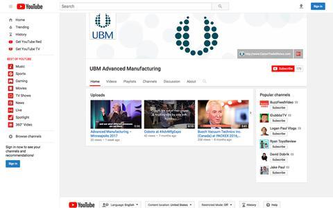 UBM Advanced Manufacturing  - YouTube
