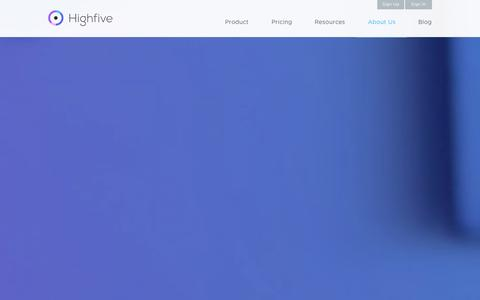 Screenshot of About Page highfive.com - Meet the Team | Highfive - captured Nov. 2, 2014