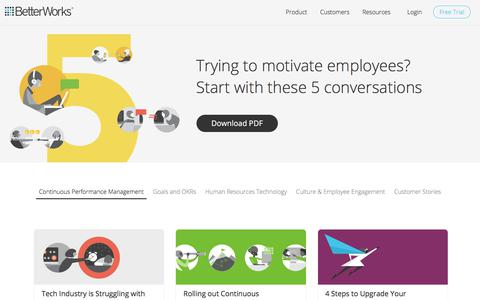 Continuous Performance Management Resources for Employee Engagement, OKRs & More | BetterWorks