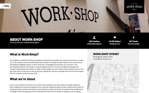 Screenshot of About Page work-shop.com.au - How We Roll - Work-Shop - captured Oct. 7, 2014
