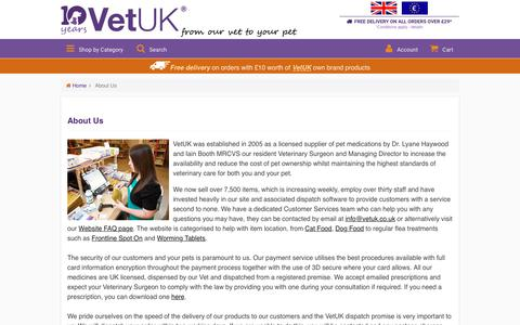 Screenshot of About Page vetuk.co.uk - About Us  | VetUK - captured Oct. 27, 2017