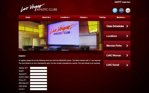 Screenshot of Signup Page lvac.com - Sign Up - Las Vegas Athletic Clubs - captured Nov. 1, 2014
