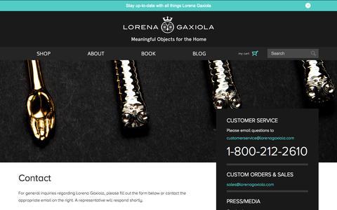 Screenshot of Contact Page lorenagaxiola.com - Contact - Lorena Gaxiola Official SIte - captured Oct. 28, 2014