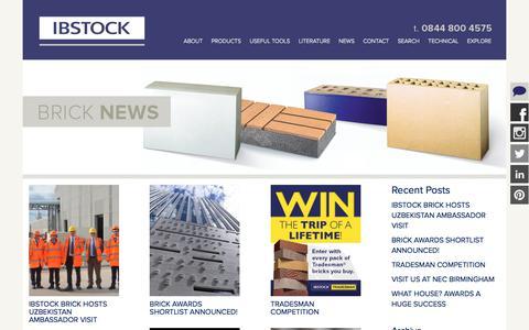 Screenshot of Press Page ibstock.com - » Blog - captured Oct. 14, 2017