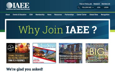 Screenshot of Signup Page iaee.com - Membership - International Association of Exhibitions and Events - captured Sept. 23, 2016