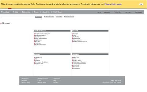 Screenshot of Site Map Page mgllicensing.com - MGL - SiteMap - captured Dec. 19, 2015