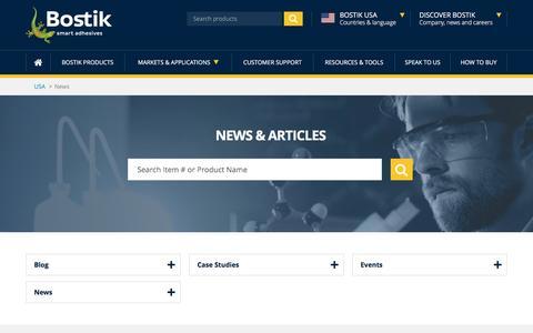 Screenshot of Press Page bostik.com - Bostik News | Bostik Events | Bostik Blog - captured Dec. 2, 2016