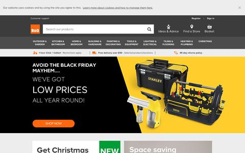 Screenshot of Home Page diy.com - DIY Supplies & Accessories | DIY at B&Q - captured Nov. 21, 2018