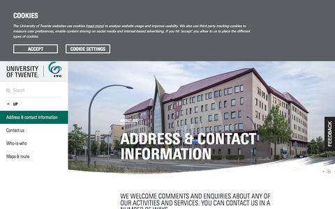 Screenshot of Contact Page itc.nl - Contact us   Address & contact information - captured Sept. 24, 2018