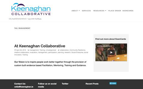Screenshot of Team Page keenaghan.ie - management - captured Oct. 15, 2018