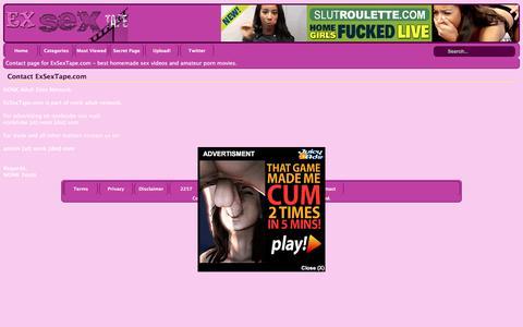 Screenshot of Contact Page exsextape.com - Contact page on ExSexTape.com - ExSexTape.com - captured June 10, 2016