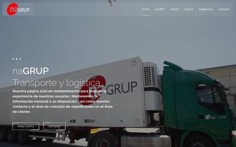 Screenshot of Home Page nordand.com - naGRUP | Transport internacional - captured June 12, 2016