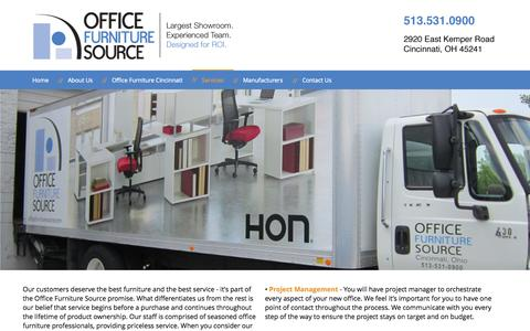 Screenshot of Services Page officefurnituresource.com - Services | Office Furniture Source - captured Sept. 30, 2014