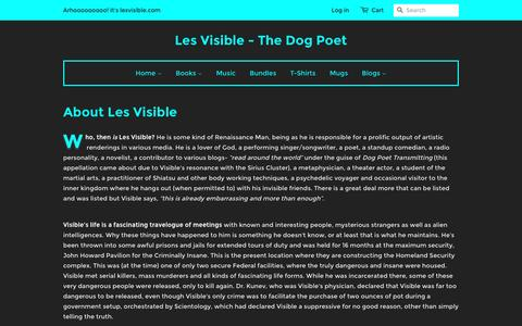 Screenshot of About Page lesvisible.com - About Les Visible – Les Visible - The Dog Poet - captured Jan. 5, 2017