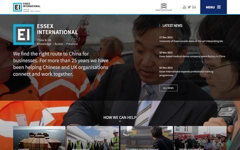 Screenshot of Menu Page essexinternational-en.org - Essex International - captured Dec. 12, 2015