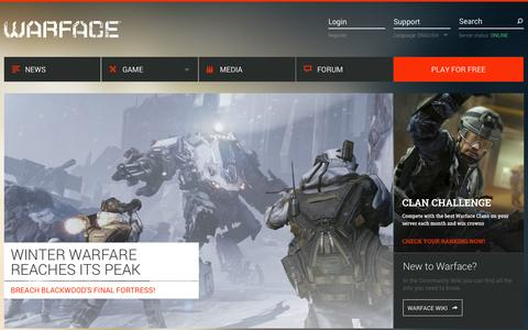 Screenshot of Home Page warface.com - WARFACE - Free-to-play online first person shooter - captured Jan. 27, 2015