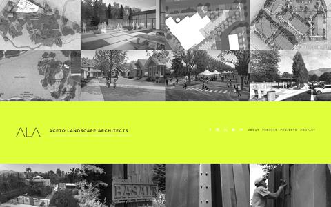 Screenshot of Home Page acetola.com - ACETO LANDSCAPE ARCHITECTS + URBANISTS - captured Oct. 21, 2017