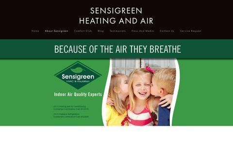Screenshot of Team Page sensigreen.com - Our Team — SENSIGREEN HEATING AND AIR - captured Feb. 23, 2016