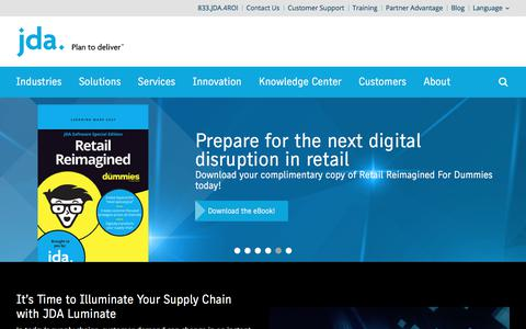 Leader in Supply Chain and Retail Solutions | JDA Software