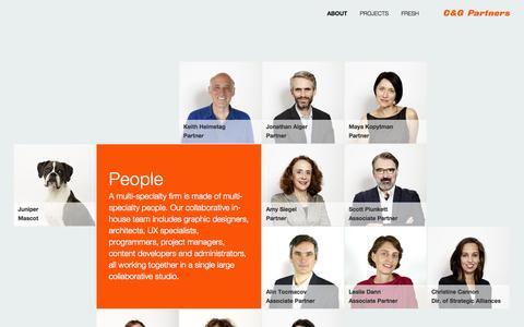 Screenshot of Team Page cgpartnersllc.com - People | C&G Partners - captured Nov. 1, 2014