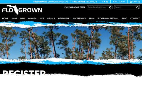 Screenshot of Signup Page flogrown.com - Register – Flogrown - captured Nov. 24, 2016