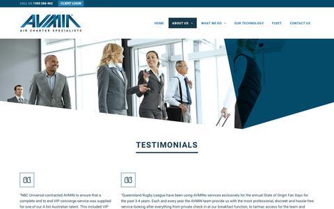 Screenshot of Testimonials Page avmin.com.au - Testimonials – AVMIN - captured Oct. 7, 2017