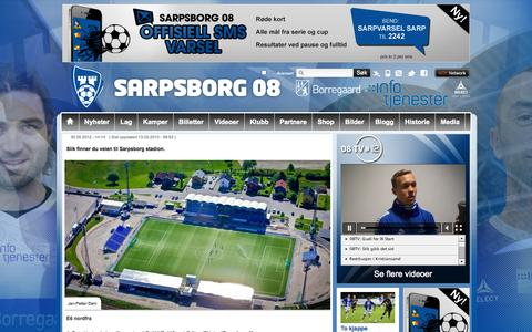Screenshot of Maps & Directions Page sarpsborg08.no - Veibeskrivelse  | Sarpsborg 08 - captured Sept. 30, 2014