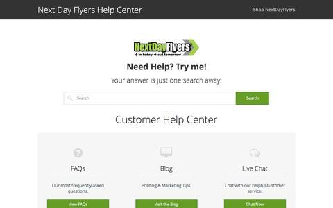 Customer Help Center - Next Day Flyers Help Center