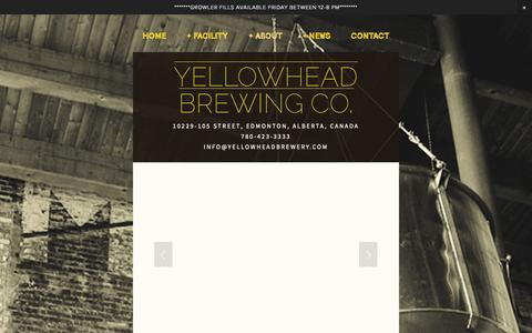 Screenshot of Hours Page yellowheadbrewery.com - Brewery Tours — YELLOWHEAD BREWING CO. - captured Oct. 27, 2014