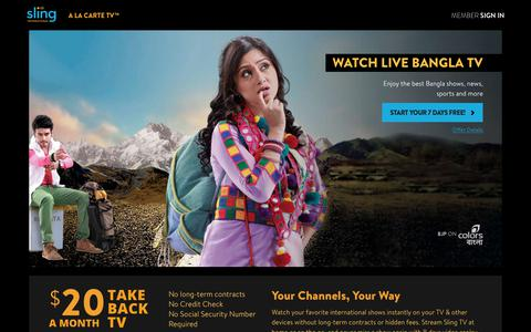 Sling TV - Watch Live Bangla Channels on the #1 Live International TV provider in the US