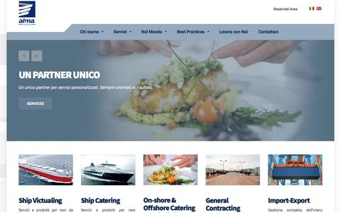 Screenshot of Home Page almacatering.com - Home - Alma Catering - captured Oct. 7, 2017