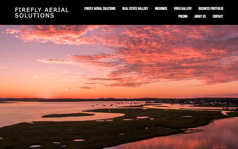 Screenshot of Home Page fireflyaerialsolutions.com - FIREFLY AERIAL SOLUTIONS - captured July 8, 2018