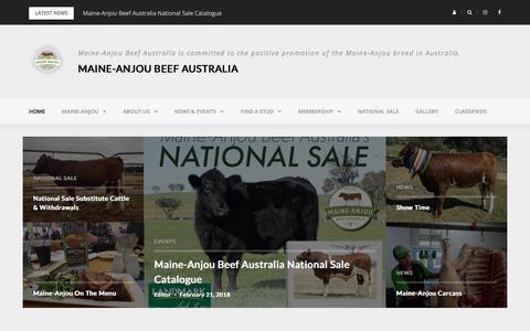 Screenshot of Home Page maine-anjoubeef.com.au - Home - Maine-Anjou Beef Australia - captured April 21, 2018