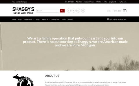 Screenshot of About Page sccskis.com - About Us - Shaggy's Copper Country Skis - captured Oct. 4, 2014