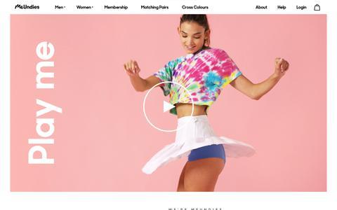 Screenshot of About Page meundies.com - MeUndies | Feel Good Underwear for Men & Women - MeUndies - captured July 6, 2017