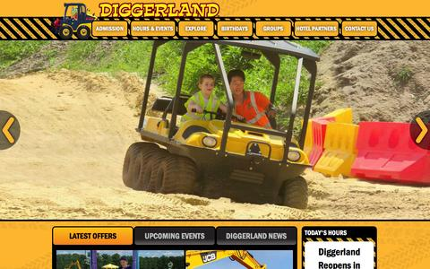 Screenshot of Home Page diggerlandusa.com - Diggerland Construction Theme Park: West Berlin, NJ - captured Jan. 7, 2016